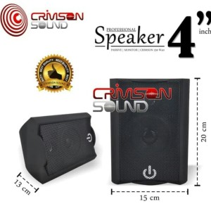Harga speaker pasif pasive 4 inch crimson cr 402 2 way monitor per 1 | HARGALOKA.COM