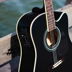 Harga gitar akustik elektrik yamaha blackdoff | HARGALOKA.COM