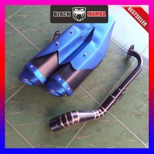 Harga knalpot model ori cbr250rr biru cbr150 r15 gsxr150 vixion xabre | HARGALOKA.COM