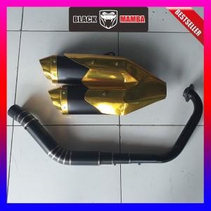Harga knalpot model ori cbr250rr gold cbr150 r15 gsxr150 vixion xabre | HARGALOKA.COM
