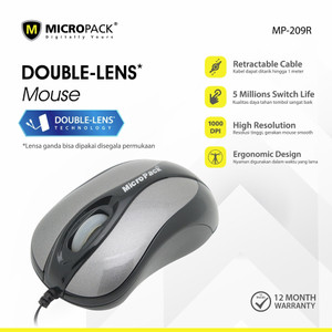 Harga micropack wired mouse double lens mouse pad mp 209r   | HARGALOKA.COM