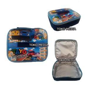 Harga tas bekal lunch bag anak aluminium foil bintik premium super   | HARGALOKA.COM
