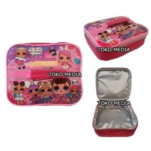 Harga tas bekal lunch bag anak aluminium foil bintik premium lol | HARGALOKA.COM
