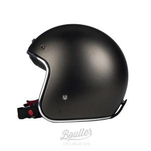 Harga helm retro slim boulter sf gunmetal dof   brown padding | HARGALOKA.COM