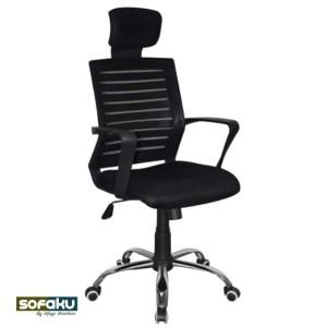 Harga ergonomic mesh chair office   kursi kantor kepala sandaran c 88   kaki | HARGALOKA.COM