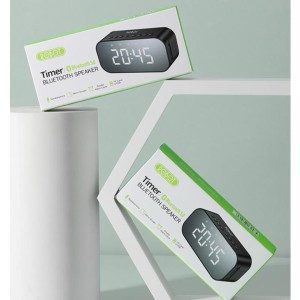 Harga robot rb550 timer alarm clock bluetooth 5 0 speaker with led | HARGALOKA.COM