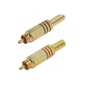 Harga jack rca gold sepasang merah amp hitam   | HARGALOKA.COM