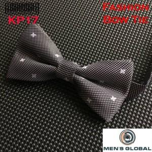 Harga dasi kupu   kupu bowtie elegant motif hitam bunga putih kp17 w | HARGALOKA.COM