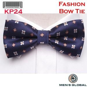 Harga dasi kupu   kupu bowtie elegant motif navy bunga kp24 w | HARGALOKA.COM