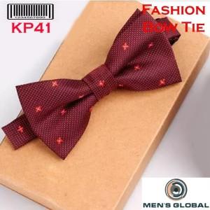 Harga dasi kupu   kupu bowtie elegant motif bunga merah kp41 w | HARGALOKA.COM