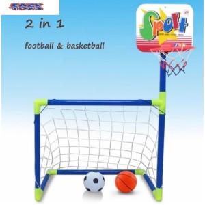 Harga mainan anak mainan edukasi gawang bola dan ring basket   HARGALOKA.COM