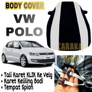 Harga body cover vw polo strip silver sarung mobil vw polo premium | HARGALOKA.COM