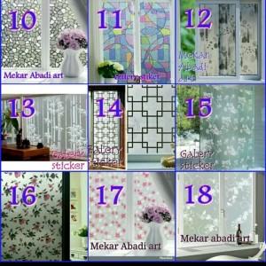 Harga promoo stiker kaca sanblas motif untuk rumah kantor terlaris | HARGALOKA.COM
