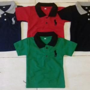 Harga grosir baju polo kerah anak murah size mix 123 unisex konveksi   mix size 1 2 3   HARGALOKA.COM