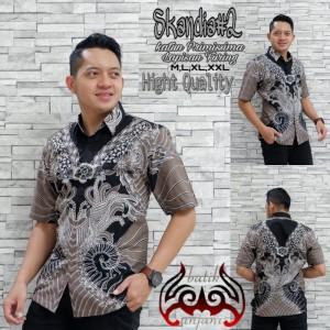 Harga skandia 2 kemeja batik solo lengan pendek full furing by | HARGALOKA.COM