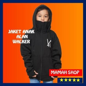 Harga sweater jaket hoodie ninja alan walker anak hitam   hitam | HARGALOKA.COM