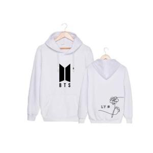 Harga jaket sweater polos hoodie pria wanita 34 bts 34   putih | HARGALOKA.COM