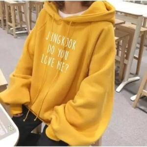 Harga jaket sweater polos hoodie pria wanita 34 bts 34 squad   abu abu | HARGALOKA.COM