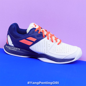 Harga sepatu tenis babolat pulsion white dazzling blue tennis shoes | HARGALOKA.COM