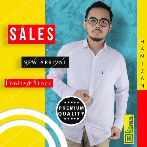 Harga premium baju kemeja pria polos panjang slimfit kerja casual formal 02   biru muda | HARGALOKA.COM
