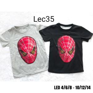 Harga kaos anak cowok model bagus motif baru led nyala lampu spiderman 2   abu abu   HARGALOKA.COM