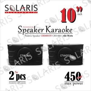 Harga speaker karaoke 10 inch pasif crimson | HARGALOKA.COM
