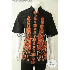 Harga kemeja batik motif unik lengan pendek pria gemuk size xxxl | HARGALOKA.COM