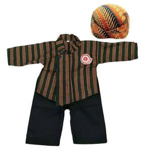 Harga baju adat jawa surjan lurik anak set blankon baju adat jawa   size | HARGALOKA.COM