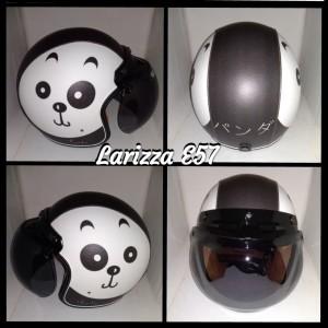 Harga helm bogo retro dewasa motif wajah panda   HARGALOKA.COM