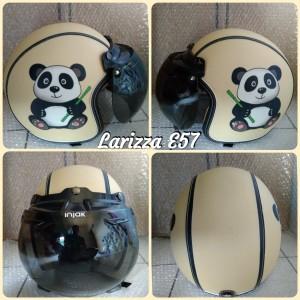 Harga helm bogo retro dewasa motif panda bambu   HARGALOKA.COM