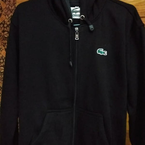 Harga zipper sweater hoodie lacoste patch   bordir high | HARGALOKA.COM