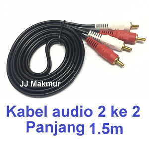 Harga kabel rca konektor 2k2 utk speker 1 5m   audio cable wire for | HARGALOKA.COM
