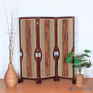 Harga sketsel penyekat ruangan dari kayu amp tali enceng | HARGALOKA.COM