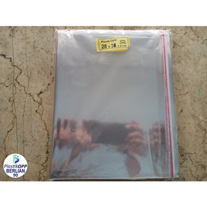 Harga plastik opp 28x38 cm tebal 20 mic plastik baju isi 100 | HARGALOKA.COM