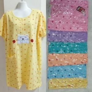 Harga baju tidur daster jumbo xxxl bahan kaos tebal warna   HARGALOKA.COM