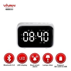 Harga vivan vs5 speaker bluetooth 5 0 dual smart alarm clock fm | HARGALOKA.COM