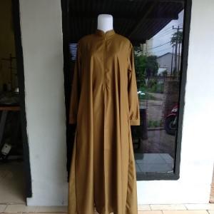 Harga gamis pemda gamis abaya   khaki tua | HARGALOKA.COM