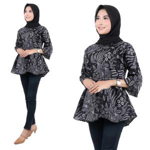 Harga batik zakiya   baju batik wanita   model blus batik   motif manggarput   | HARGALOKA.COM