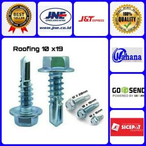 Harga baut baja ringan 10x19 isi 50 pcs baut kanal baut roofing bagus | HARGALOKA.COM