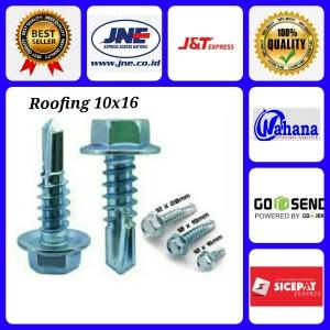 Harga baut baja ringan 10x16 isi 50 pcs baut kanal baut roofing bagus | HARGALOKA.COM