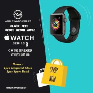 Harga apple watch series 3 gps 42mm space grey alum with black sport band   full   HARGALOKA.COM