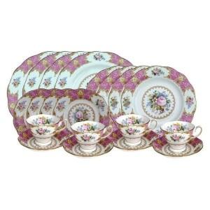 Harga paketlady carlyle   20p set p 27 p 20 p 16 tea cup amp saucer 4pcs   HARGALOKA.COM
