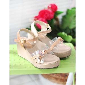 Harga sepatu sandal wedges anak perempuan cewek pesta lokal ssp14   pink | HARGALOKA.COM