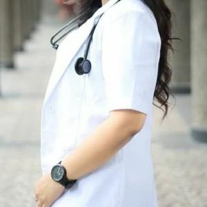 Harga baju dokter wanita lengan pendek   putih | HARGALOKA.COM
