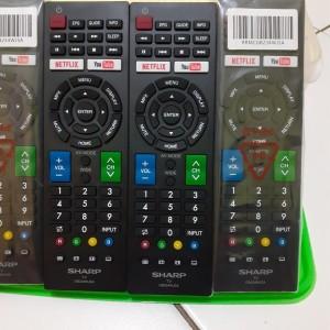 Harga remote remot tv sharp smart tv lcd led android gb234wjsa | HARGALOKA.COM