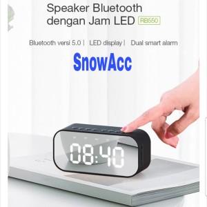 Harga robot bluetooth speaker led display rb550 timer alarm clock   HARGALOKA.COM