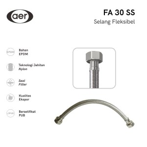 Info Aer Selang Air Flexible Anyam Stainless Steel Flexible Hose Fa 30 Ss Katalog.or.id