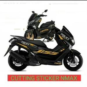 Harga cutting sticker nmax plice body hitam sticker | HARGALOKA.COM