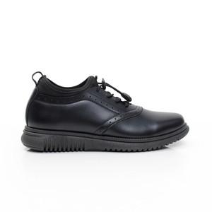 Harga volve orca black   sepatu casual hitam slip on aksen tali formal kerja   hitam | HARGALOKA.COM