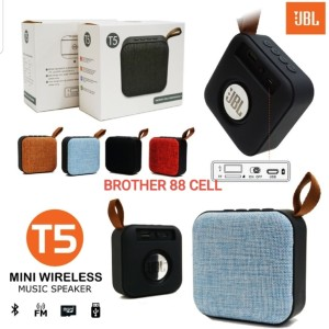 Harga speaker bluetooth wireless jbl t5 suara extra bass grade a | HARGALOKA.COM